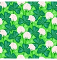 Floral pattern with clover flowers vector image