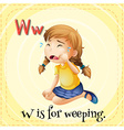 Flashcard letter W is for weeping vector image vector image