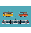 Railway Transport Icon Set vector image