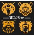 Bear faces mascot emblem symbols vector image