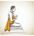 buddha statue vector image