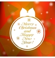 Christmas greeting card with toy vector image