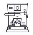 coffee machine with cup line icon sign vector image