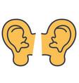 ears concept line icon editable stroke vector image