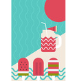 Fresh summer popsicle vector image