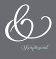 hand lettered flourish ampersands great vector image