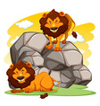 Lions vector image