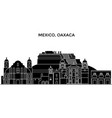 mexico oaxaca architecture urban skyline with vector image