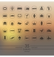 Set of luxury icons vector image