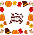 thanksgiving day greeting banner or poster vector image