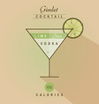 Vodka gimlet cocktail vector image