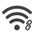 wifi hotspot glyph icon web and mobile vector image