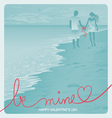 Beach Couple vector image vector image