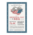 Vintage Memorial Day barbecue invitation vector image