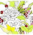 summer seamess wallpaper vector image