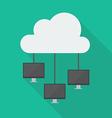 Cloud Computing Diagram Network vector image