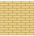 Seamless Pattern of Yellow Bricks Wall vector image