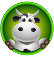 cute cow head cartoon vector image
