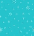 Christmas winter seamless pattern Snowflakes with vector image