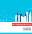 city of the future with alternative energy sources vector image