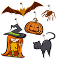 Halloween tags vector image