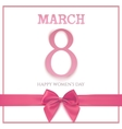 International Womens day background 8 March vector image