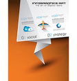 Origami Flat style flyer design or Brochure vector image