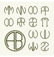 Set template letters to create monograms vector image