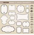 Vector design ornaments set vector image