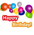 group of balloons with the words happy birthday vector image