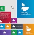 healthy food concept icon sign buttons Modern vector image