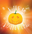 Happy Halloween background with pumpkin vector image