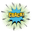 comic crack word background vector image