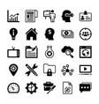 seo and digital marketing glyph icons 13 vector image