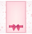 Blank greeting card template vector image