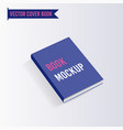 book cover mock up template vector image
