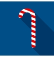 Christmas Candy Cane in Flat Style vector image
