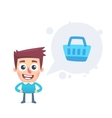 Customer information vector image