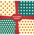 four dotted colored patterns vector image