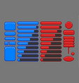 game assets pixel art gui vector image