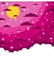 Night beautiful moonlit sky vector image
