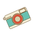 Retro photographic camera vector image