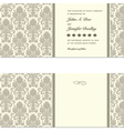 Vintage documents or invitation vector image vector image