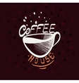 Hand drawn typography coffee poster - vector image