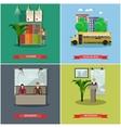 set of school concept design elements in vector image