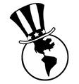 Globe with patriotic hat cartoon vector image vector image