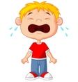 Young boy cartoon crying vector image