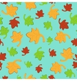 Leaf Fall Seamless Pattern vector image