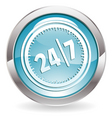 24/7 button vector image vector image