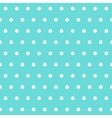 White polka dots on tiffany color background vector image